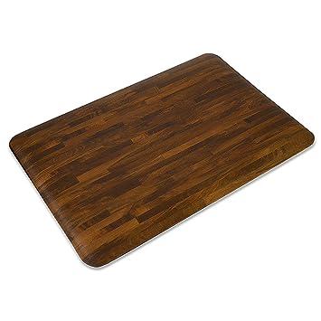 Casa Pura Kitchen Mat   Decorative Anti Fatigue Standing Pad   Ergonomic  Wood Design Cushioned