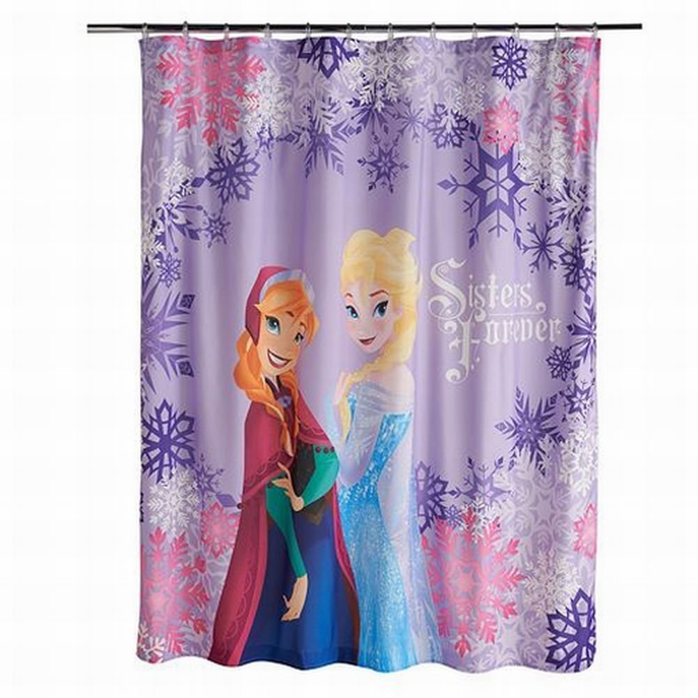 Disney Frozen Anna and Elsa Shower Curtain, Blue Jay Franco and Sons Inc JF00990WCD
