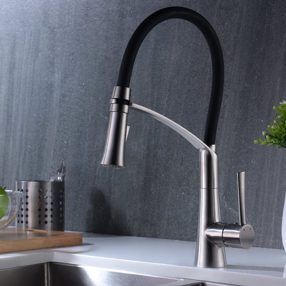 CREA Modern Kitchen Faucet Stainless Steel Single Lever Pull Down ...