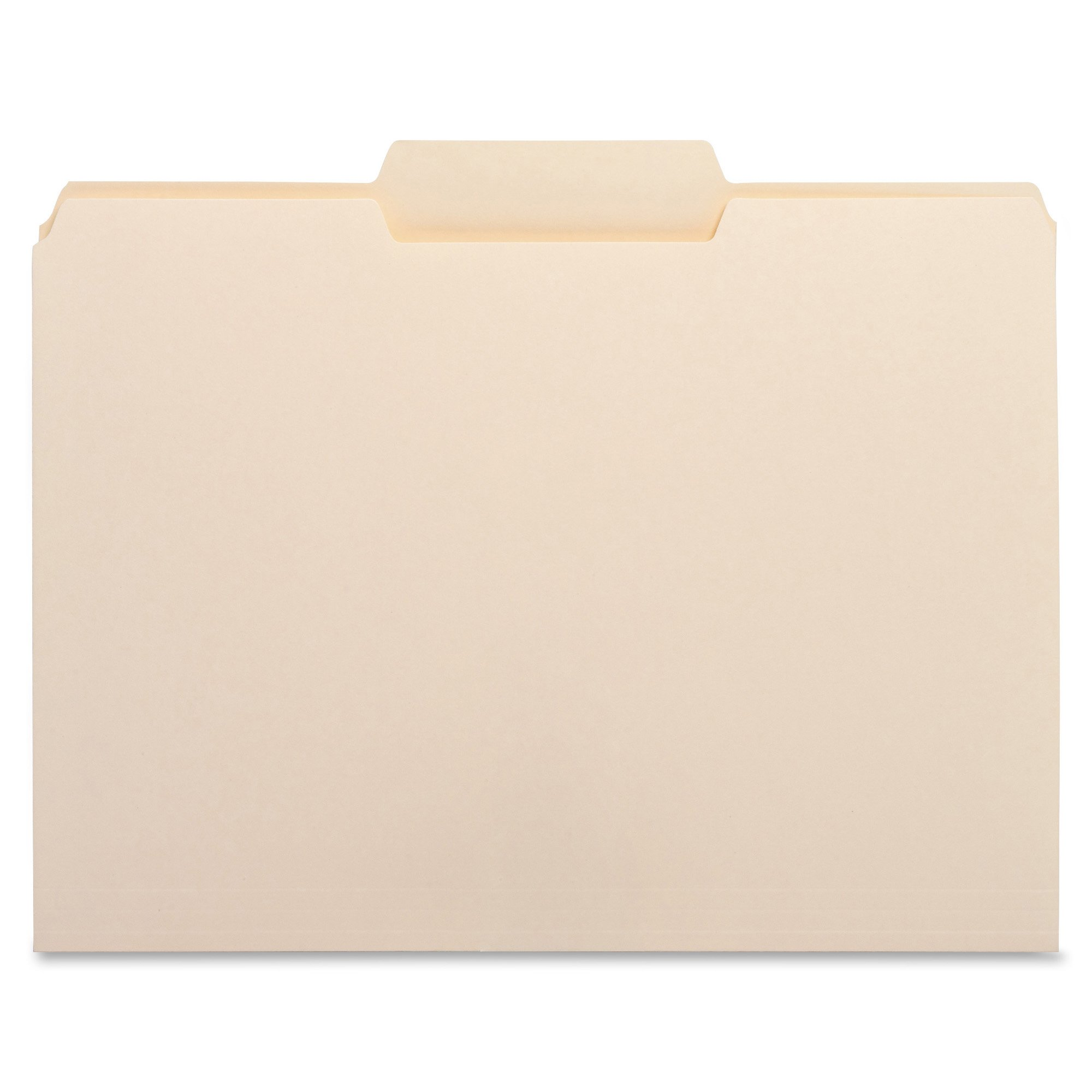Business Source 1/3 Cut Top Tab File Folder - Middle Tab - Box of 100 Manila by Business Source