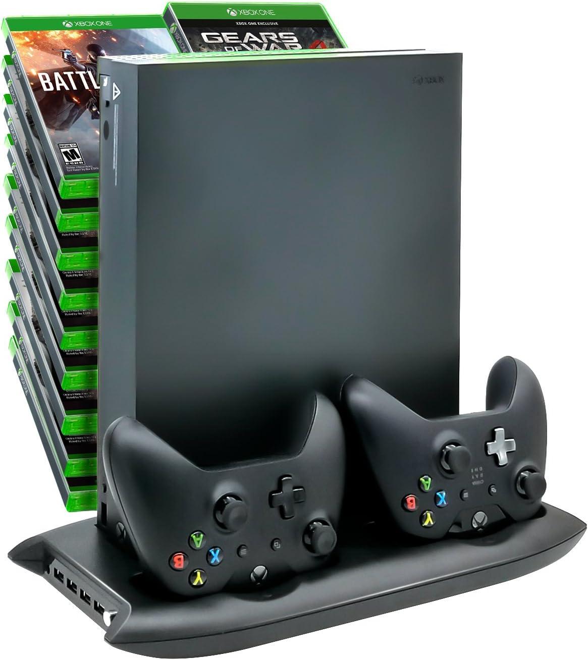 Base de carga para consola Xbox One X y controladores con ventiladores de refrigeración y soporte de juego: Amazon.es: Electrónica