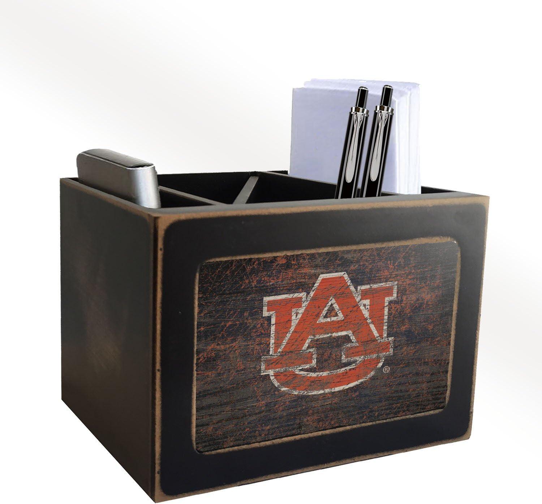 Fan Creations NCAA Auburn Distressed Team Logo Desktop Organizer with Team Color
