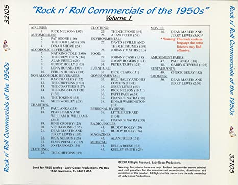 Rock N Roll Commercials Of The 1950s
