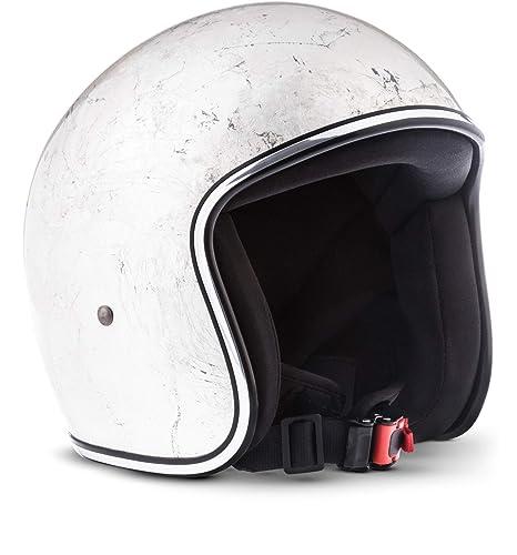 Rebel R3 de Leaves – Jet Casco de Retro de motocicleta casco Roller de casco de