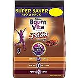 Cadbury Bournvita 5 Star Magic Health Drink, 750 gm refill pack