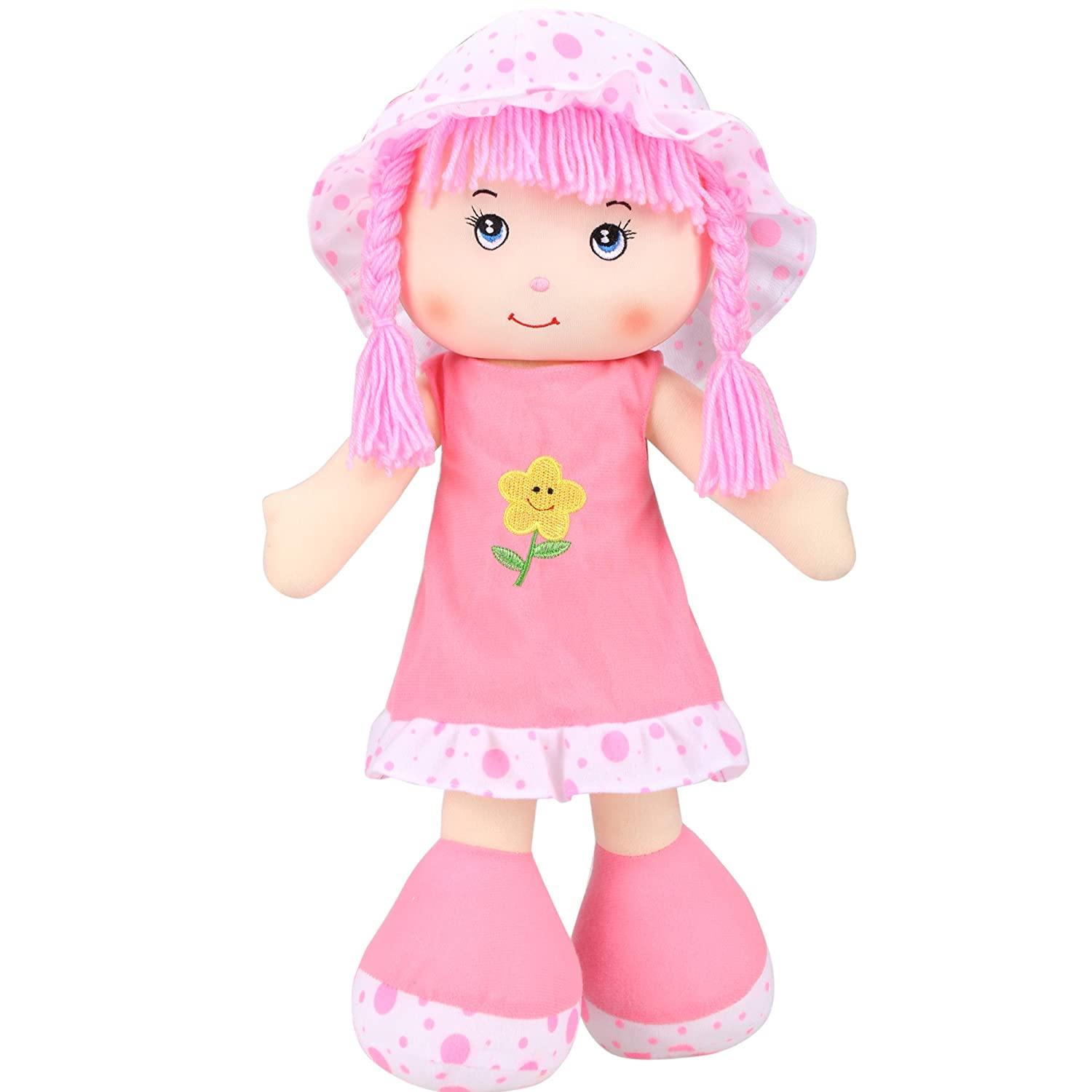 (Pink) - Arshiner Baby 50cm Washable Soft Interactive Play Dolls for Children . or Older  ピンク B017U7961E