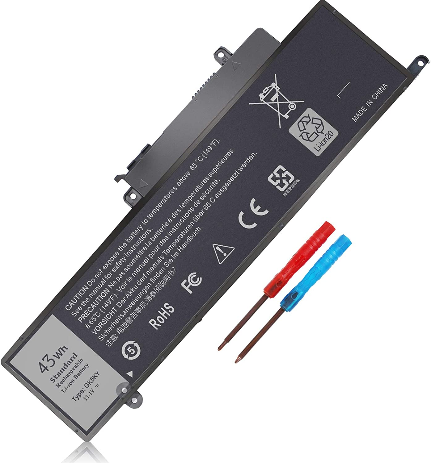 GK5KY 43WH Battery for Dell Inspiron 11 3000 Series 11-3147 11-3157 11-3158 11-3153 11-3152 11-3148 13 7359 7353 7347 7352 7348 15 7558 7568 Series P20T P20T001 P55F P55F001 04K8YH 4K8YH RHN1C 92NCT