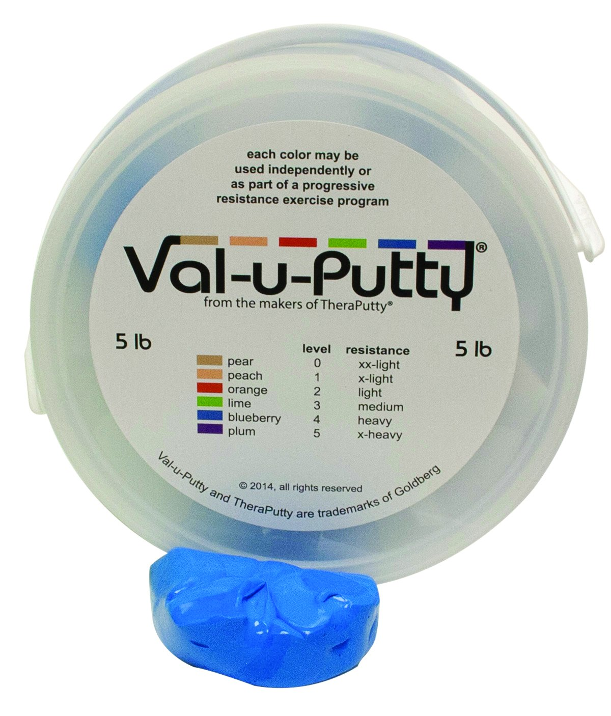 Fabrication Enterprises 10-3954 Val-U-Putty Exercise Putty, Blueberry(Firm), 5 lb. by Fabrication