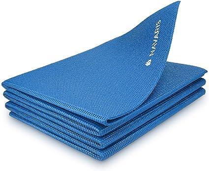 Yogamatte rutschfest faltbar Fitnessmatte Sportmatte Wildleder Gymnastikmatte