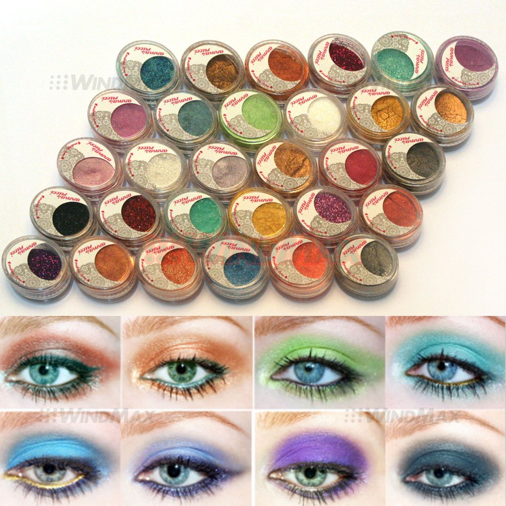 30Pieces Mulit Color Cold Smoked Warmer Glitter Shimmer Pearl Loose Eyeshadow Pigments Mineral Eye Shadow Dust Powder Makeup Party Cosmetic Set BE# by WindMax