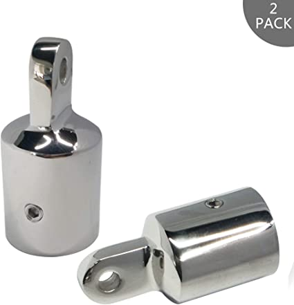 2X 1 /'/' 25mm End Cap Boot Bimini Top Fitting Hardware Marine Stainless Steel 316
