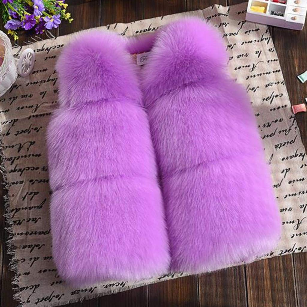 Toddler Baby Girls Faux Vest Winter Warm Coat Jacket Cute Thick Clothes