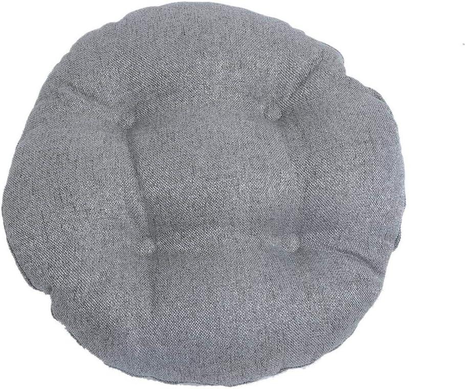 verdicktes Futon-Kissen f/ür den Innenbereich Wohnzimmer pastoralem Stil Schlafzimmer grau Bitcircuit Rundes Hockerkissen mit elastischem Leinenimitat f/ür K/üche