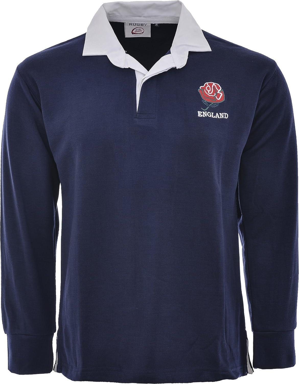 Activewear - Camiseta de la selección inglesa de rugby de manga larga, estilo retro, para adulto. Tallas: S-5XL: Amazon.es: Ropa y accesorios