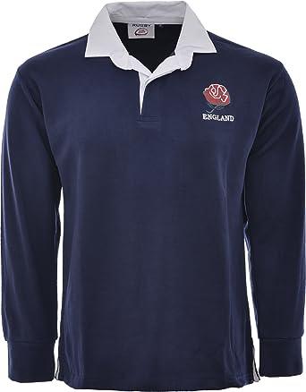 Camiseta de rugby de Inglaterra, estilo retro, manga larga, tallas ...