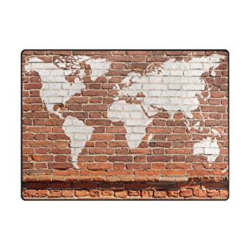 Ingbags super soft modern antique wall brick world map graffiti area ingbags super soft modern antique wall brick world map graffiti area rugs living room carpet bedroom gumiabroncs Choice Image
