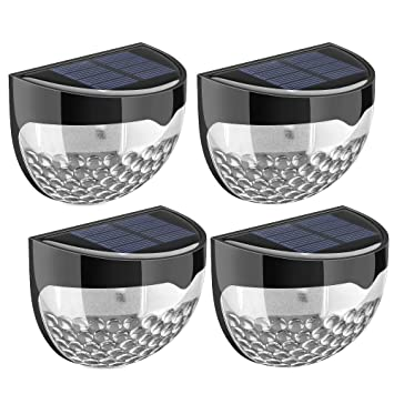 Topelek solar fence lights decorative lights 6 led garden lights topelek solar fence lights decorative lights 6 led garden lights waterproof solar lights wireless mozeypictures Images
