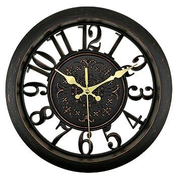 bien-zs 11 pulgadas reloj de pared hueca diseño estilo Vintage relojes de pared funciona con pilas ...