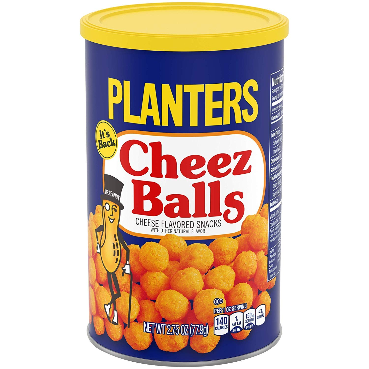 Planters Cheez Balls, 2.75 Oz Canister (Pack Of 6), 2.75 Oz by PLANTERS