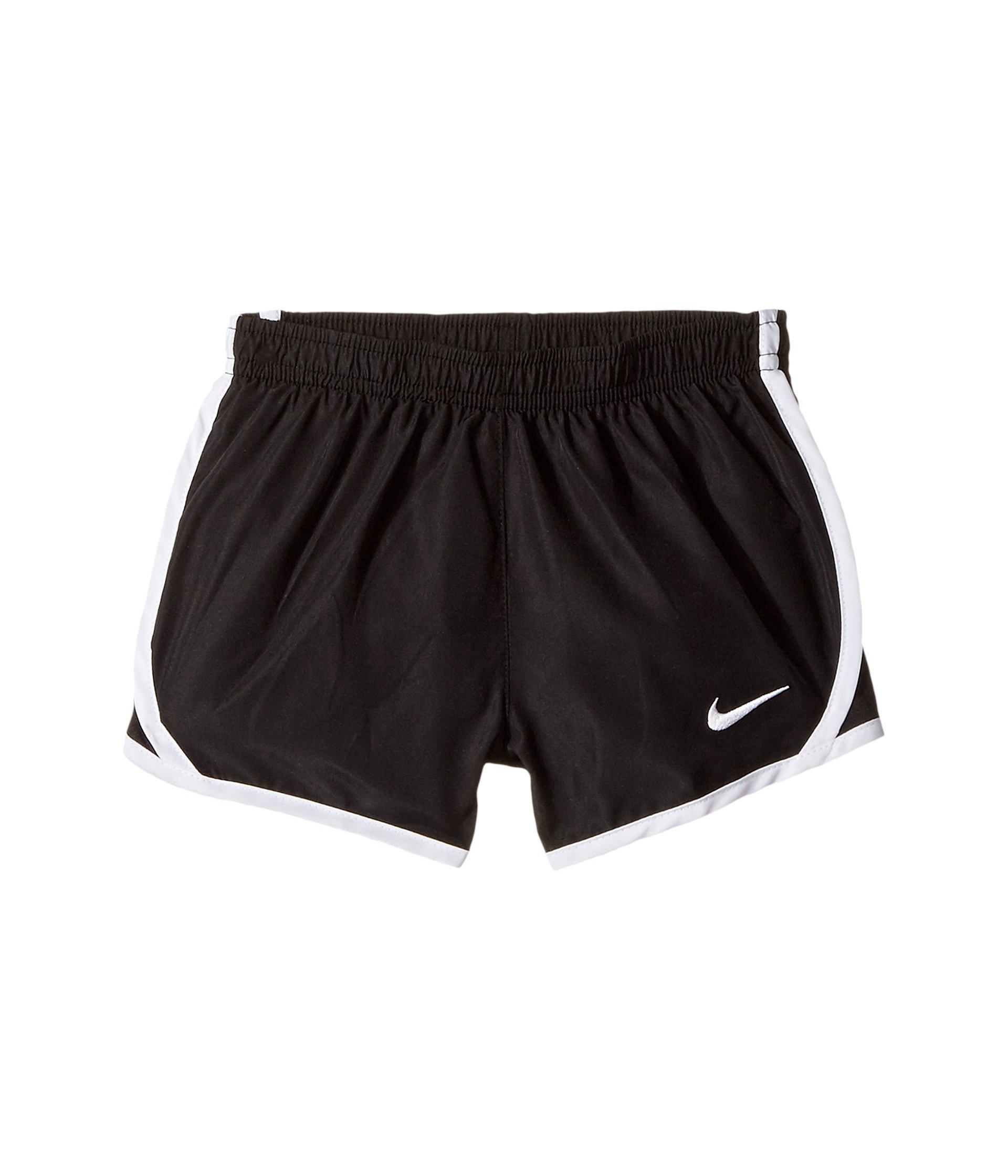 NIKE Girls' Dry Tempo Running Shorts (Black (167358-019)/White/White, 4T)