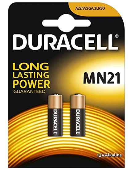 2 X Duracell 23 A 23 Ae A23 V23ga Mn21 Lrv08 Batterie Alcaline 12 V Per Auto Sistemi Di Allarme Di Sicurezza E Chiavi Della Macchina