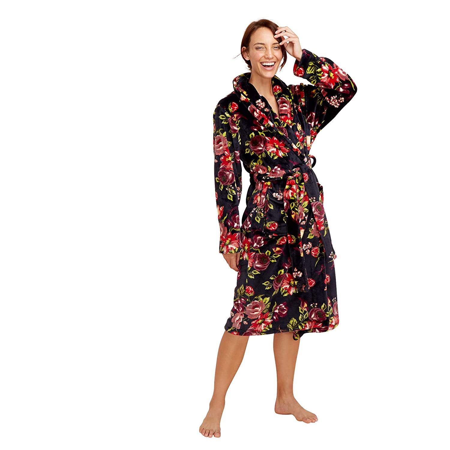 Lounge & Sleep Womens Navy Floral Print Dressing Gown