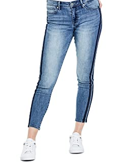 G by GUESS Tania Racer Stripe Skinny Jeans