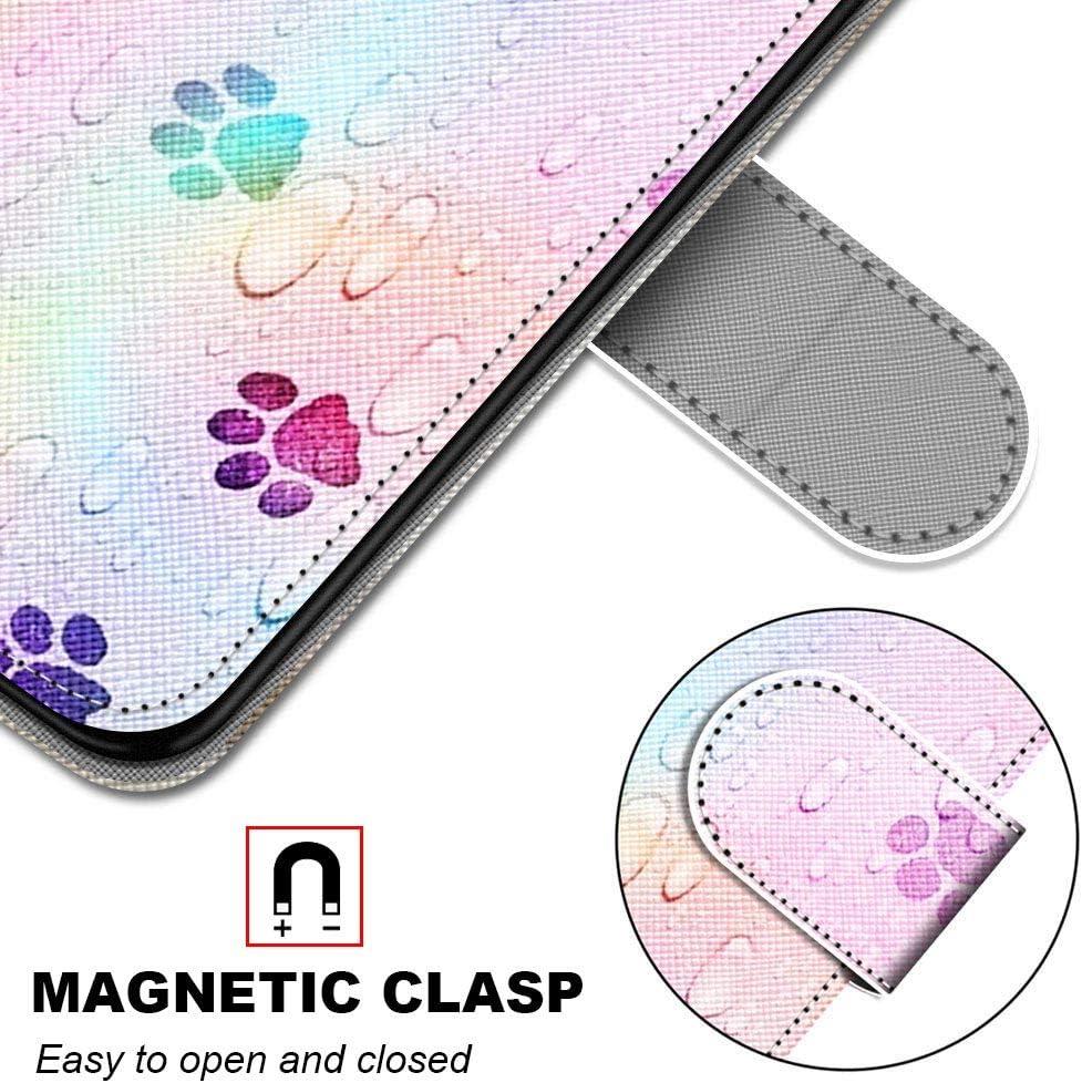 Miagon PU Cuir Coque pour Samsung Galaxy A7 2018,Color/é Motif Portefeuille /Étui Housse Cover avec Stand Support Porte-Cartes de Cr/édit,Lapin Carotte