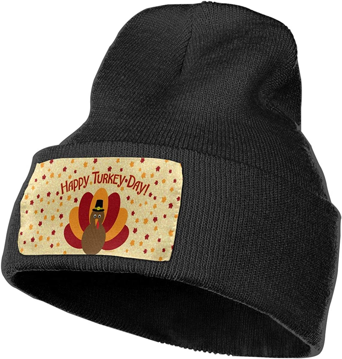 JimHappy Happy Turkey Day Hat for Men and Women Winter Warm Hats Knit Slouchy Thick Skull Cap