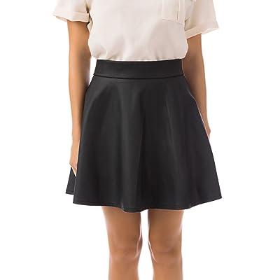 Fashion Union Women's Faux Leather Skirt