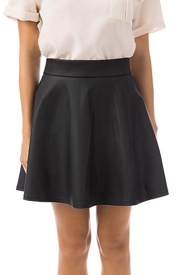 16d8cd81f42 UNION FASHION LTD Fashion Union Women s Faux Leather Skirt (Medium Size 12