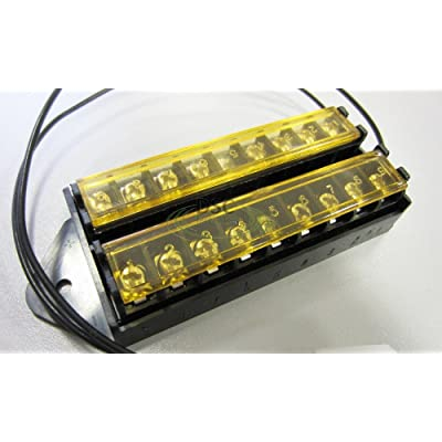 8 Way Terminal Block Bus Bar, Splits 1 Input to 8 Out (18AWG Power Lead and with Cover) : Camera & Photo