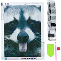 MOONQING Paresse 5D DIY Plein Diamant Percer Peinture Mignon Animal Cross Kits De Broderie