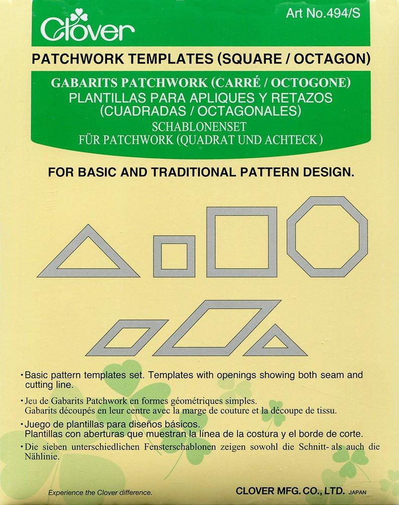 Clover Patchwork Templates Square/Octagon CL494\S