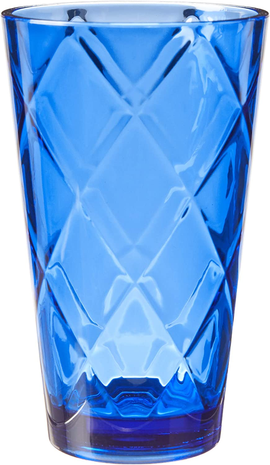 Certified International Cobalt Blue 20 oz Acrylic Ice Tea Drinkware (Set of 12), Cobalt Blue
