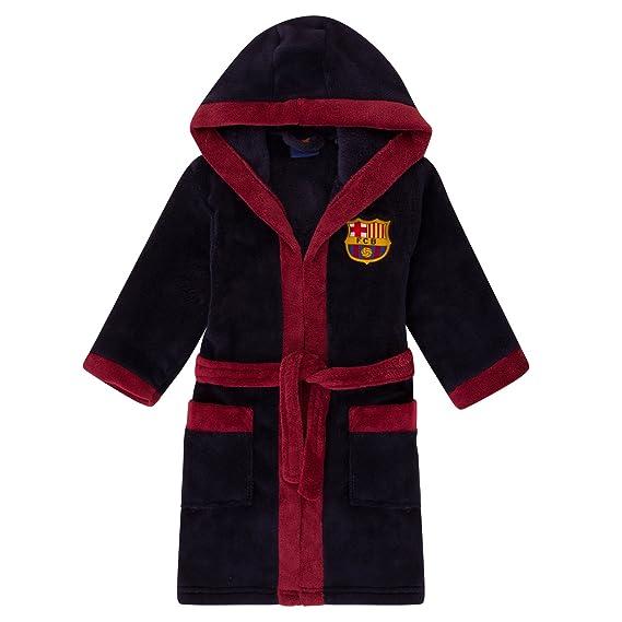 babc360d324f9 FC Barcelona - Robe de chambre à capuche thème football - polaire - garçon:  Amazon.fr: Vêtements et accessoires