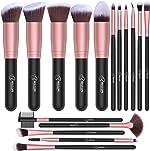 BESTOPE Makeup Brushes 16 PCs Makeup Brush Set Premium Synthetic Foundation