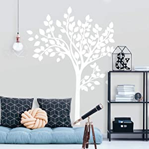 RoomMates Simple White Tree Peel And Stick Giant Wall Decals