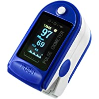 AUTENS Fingertip Pulse Oximeter, Blood Oxygen Saturation Monitor with Pulse Rate, SpO2 Reading, Plethysmograph…