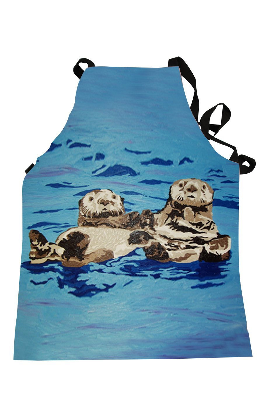 Salvador Kitti Animal Apron - Support Wildlife Conservation, Read How (Sea Otter - Best Friends)