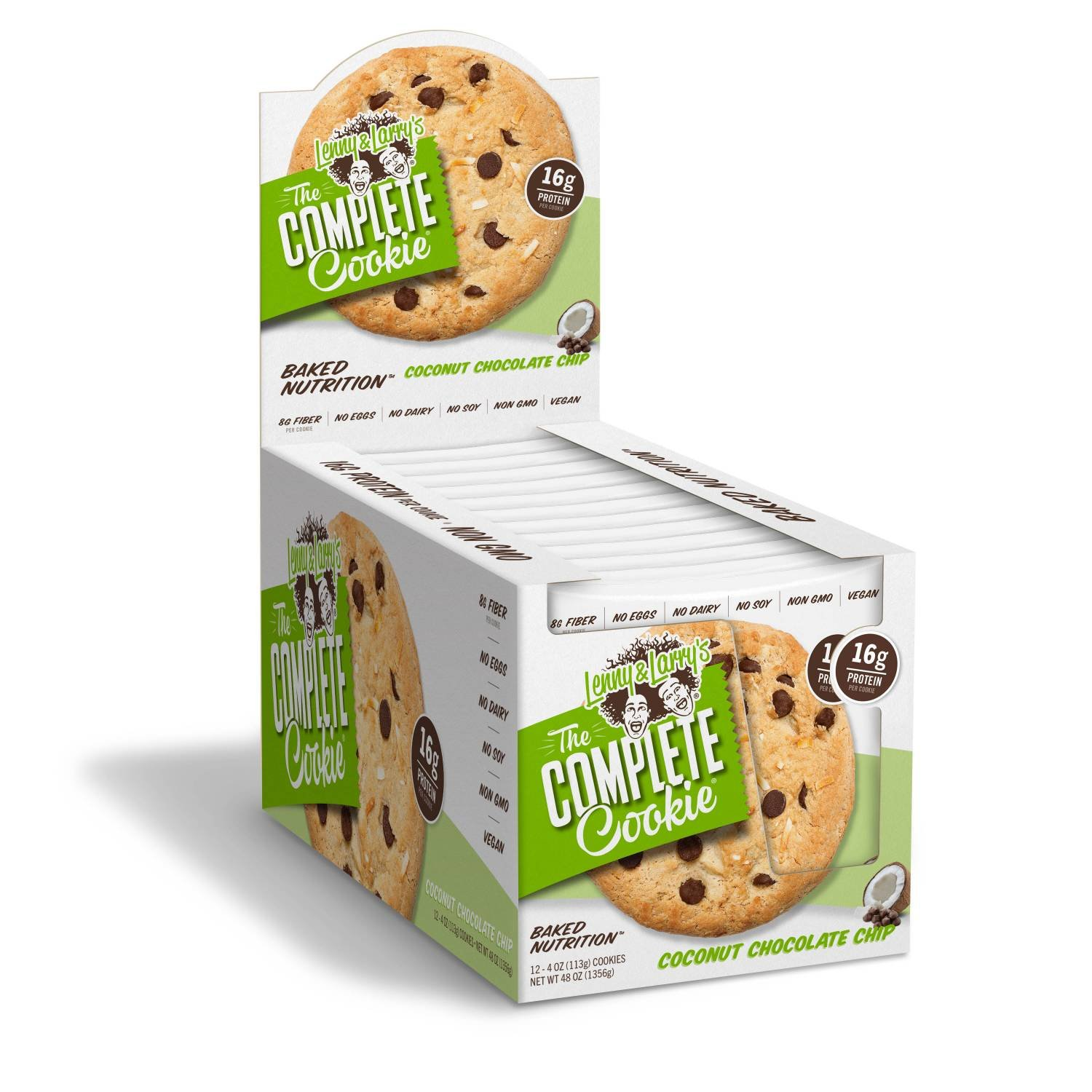 [SALE] Lenny & Larry's The Complete Cookie, Coconut Chocolate Chip, 4-Ounce Cookies (Pack of 12) by Lenny & Larry's (Image #3)