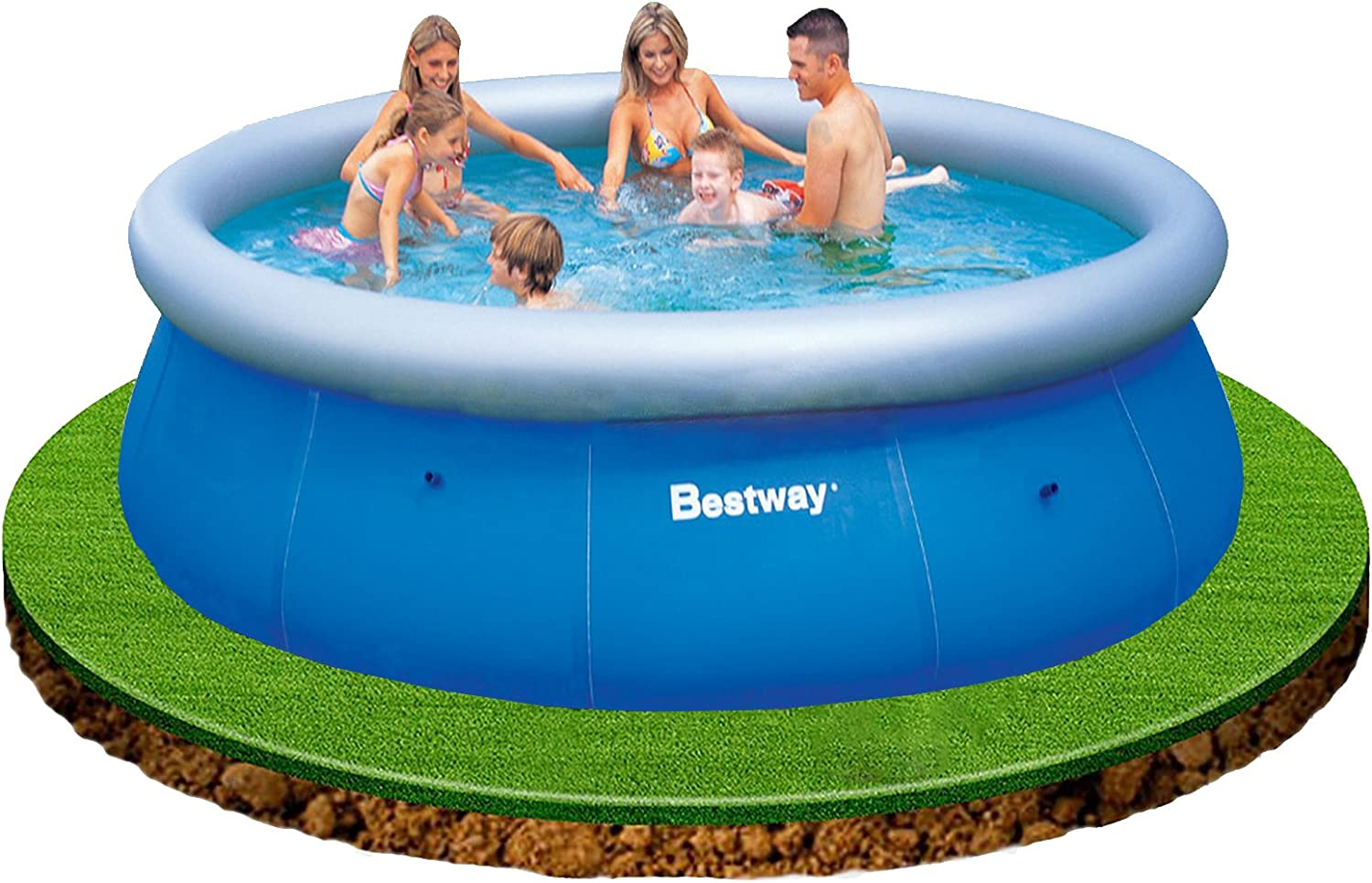Bestway Fast Set - Piscina Redonda, 366 x 91 cm: Amazon.es: Jardín