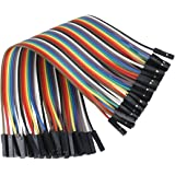Water & Wood 40PCS Dupont wire 20cm cable Line color 1p-1p pin connector