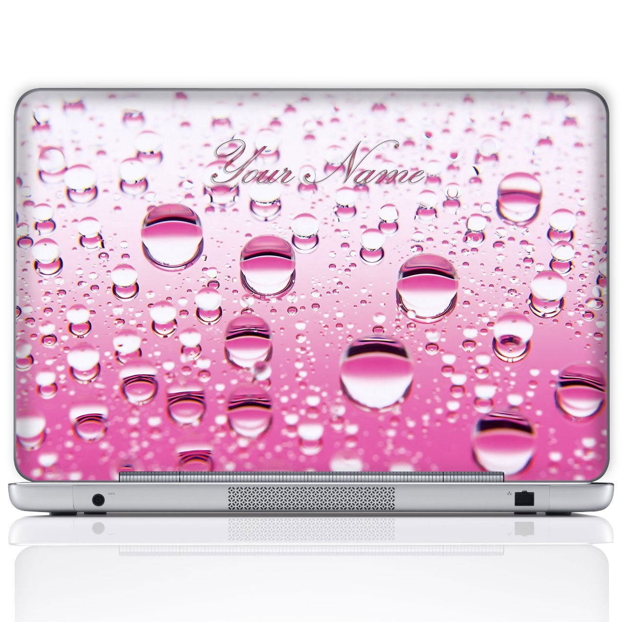Amazon com meffort inc personalized laptop notebook notebook skin sticker cover art decal customize your name 17 inch pink water bubbles computers