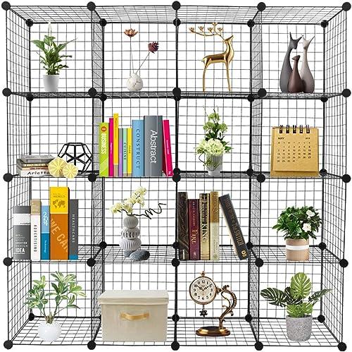 Organizer Cube Storage Storage Shelves Wire Cube Storage Origami Shelves Metal Grid Multifunction Shelving Unit Modular Cubbies Organizer Bookcase 16-Cube Review