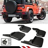 Cuztom Tuning for 2007-2018 Jeep Wrangler JK JKU Rubicon Offroad Mud Flaps Splash Guards