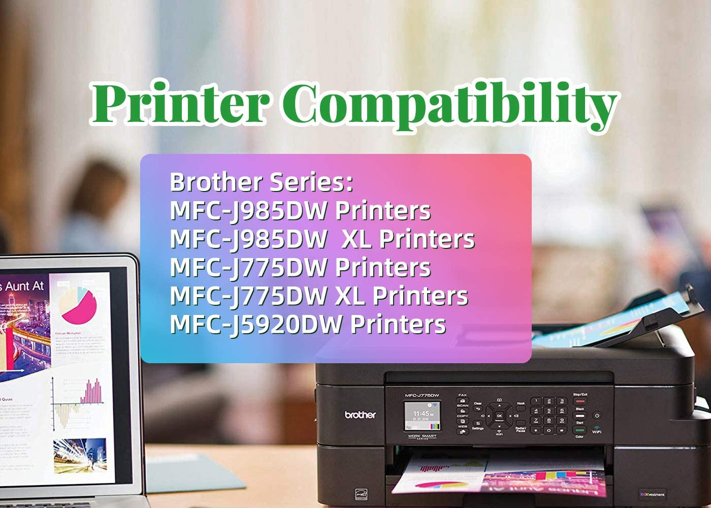 ZET Remanufactured Ink Cartridge Replacement for Brother LC20E XXL Used in MFC-J5920DW MFC-J775DW MFC-J985DW J5920DW J775DW J985DW Printers BCMY, 8 Pack