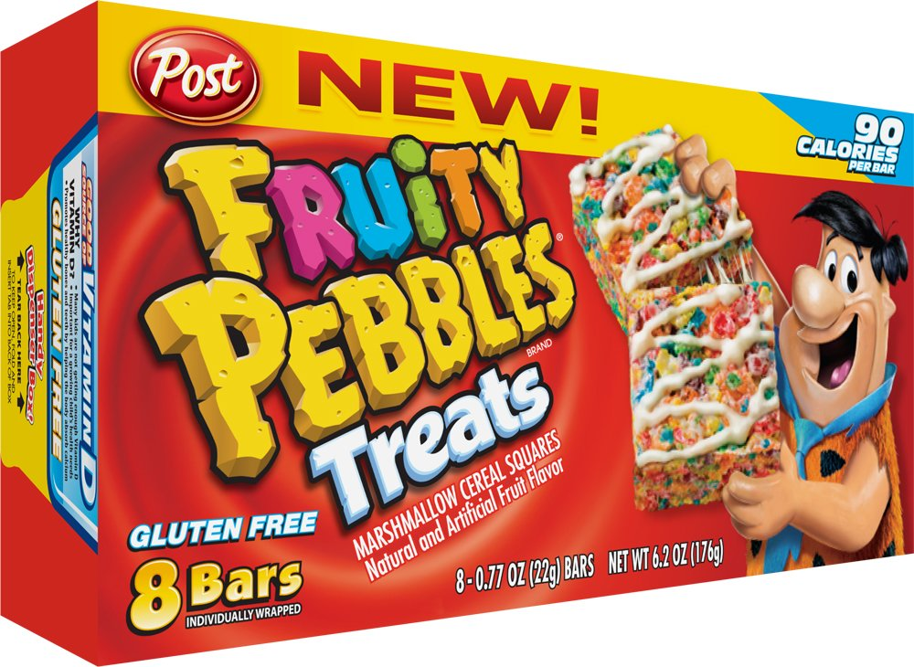 Post Pebbles Fruity Pebbles Treats, 8-Count (Pack of 8)