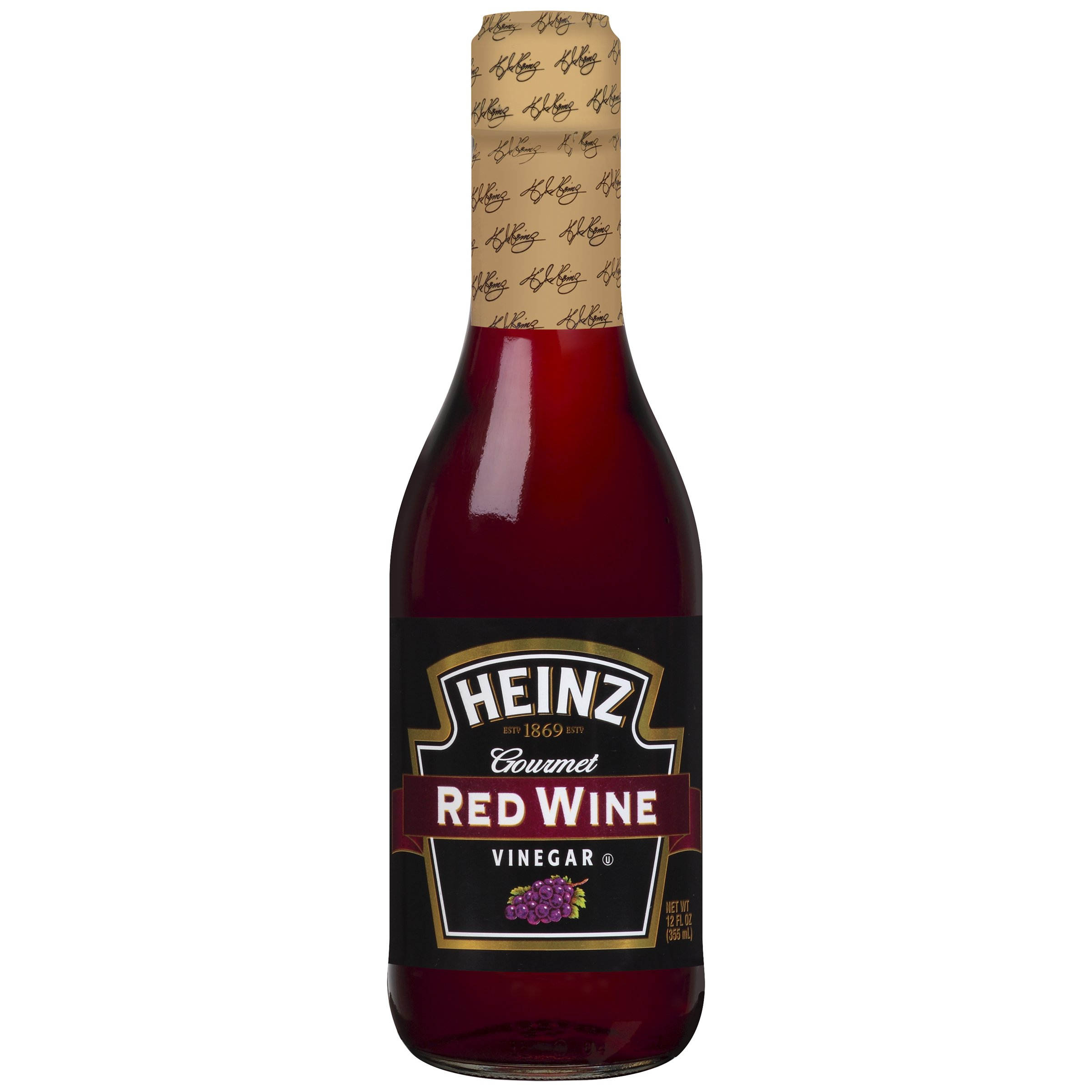 Heinz Red Wine Vinegar (12 oz Bottles, Pack of 12) by Heinz