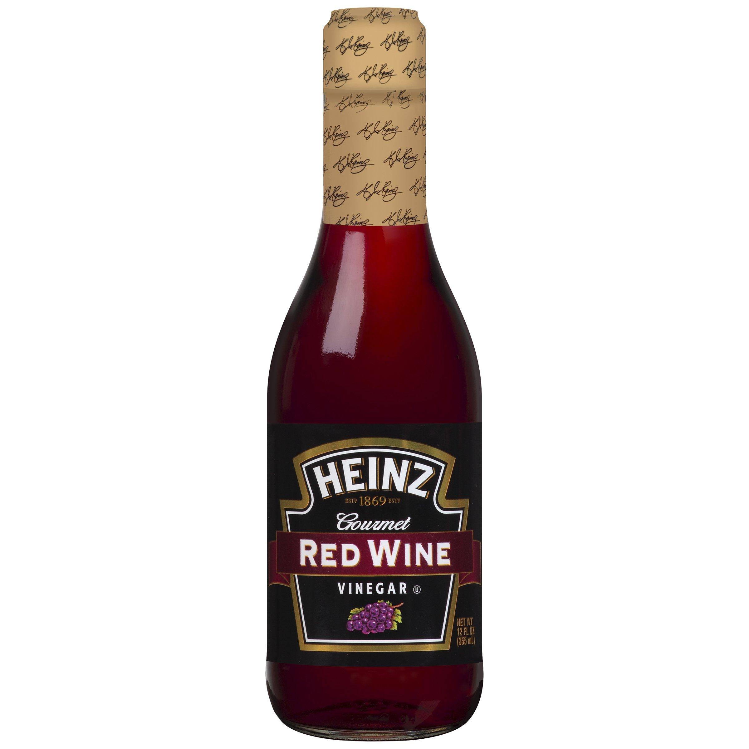 Heinz Red Wine Vinegar (12 oz Bottles, Pack of 12) by Heinz